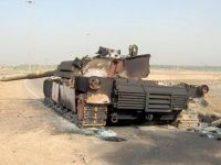 Destroyed M1 Abrams