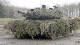 Camouflaged Leopard 2