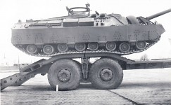 T95 on a trailer