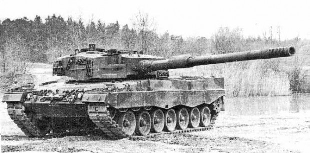 """AY1M 140mm ETC"" gun on leopard 2A4"