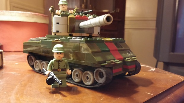 Lego M4A2 76 Command tank in Soviet service.