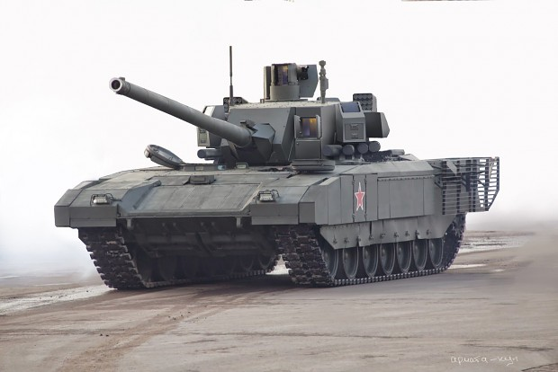 Artists impression of Armata without turret armor