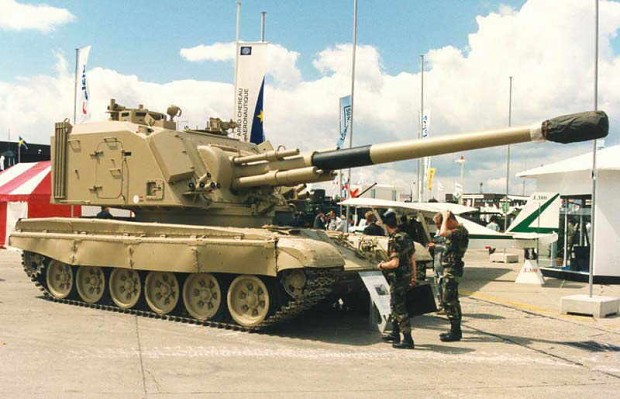 T-72 with a AU-F1 Howitzer turret.