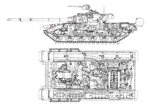 T-72 (T-90) Basic Armor Layout