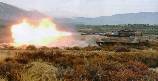Leopard 2A6 firing