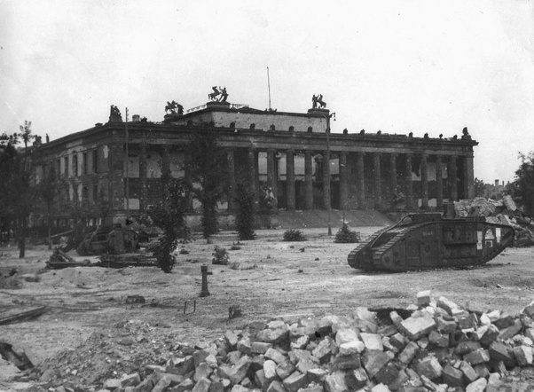 Mk-I tanks in battle of Berlin.