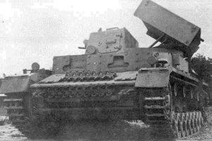 Panzer 4 hull with nebelwerfer launcher