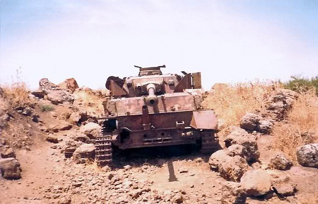 Remains of Syrian Panzer IV's