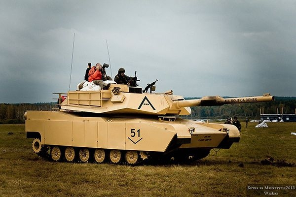 M1 made by Airsoft Players using a MTLB chassis