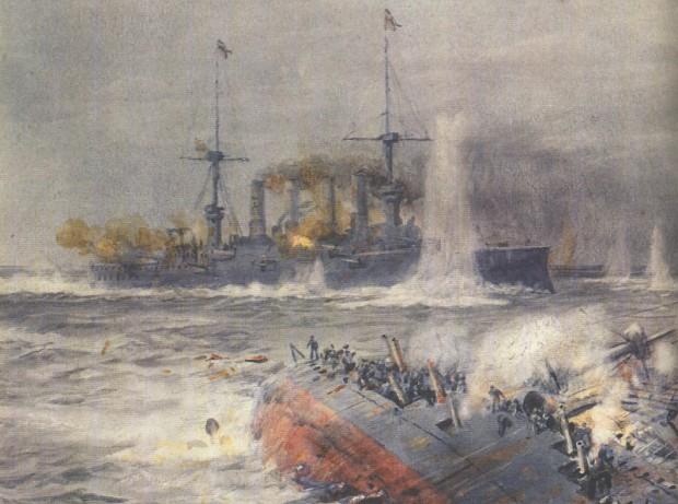 ship battle in ww1