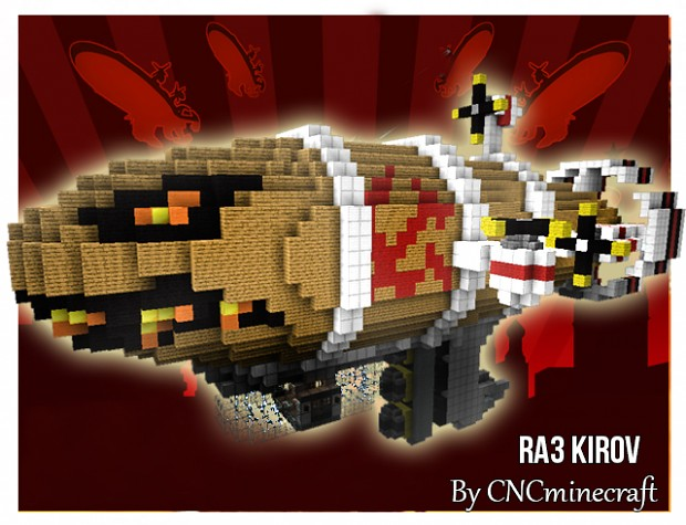 Kirov Airship in Minecraft (by CNCminecraft)