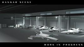 Hangar Scene WIP 01