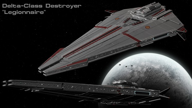 Delta-class Destroyer WIP - Test Render