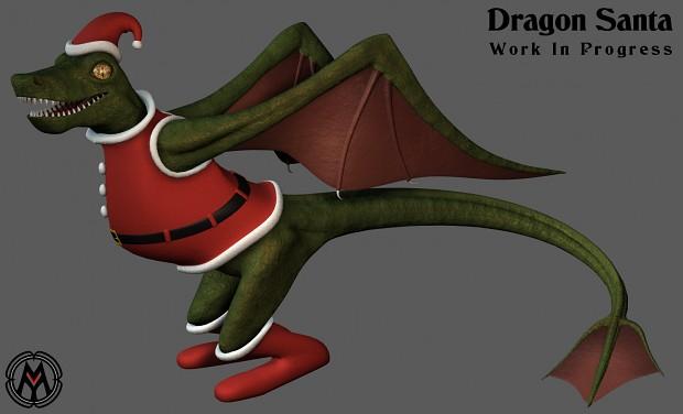 Dragon Santa wip3