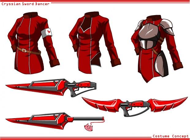 Cryssian Sword Dancer costume