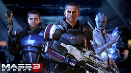 Shepard, Kaidan and Liara