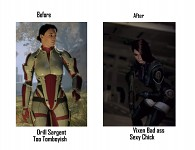 mass effect ashley comparison by darkwilliam1973