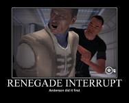 Well, Anderson is Shepard's mentor...
