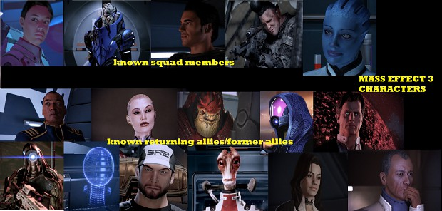 Mass Effect 3 Characters