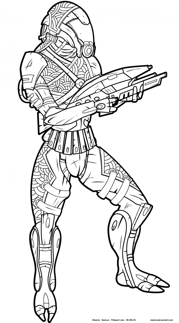 Line Drawing Effect Photo : Quarian pirate image mass effect fan group mod db