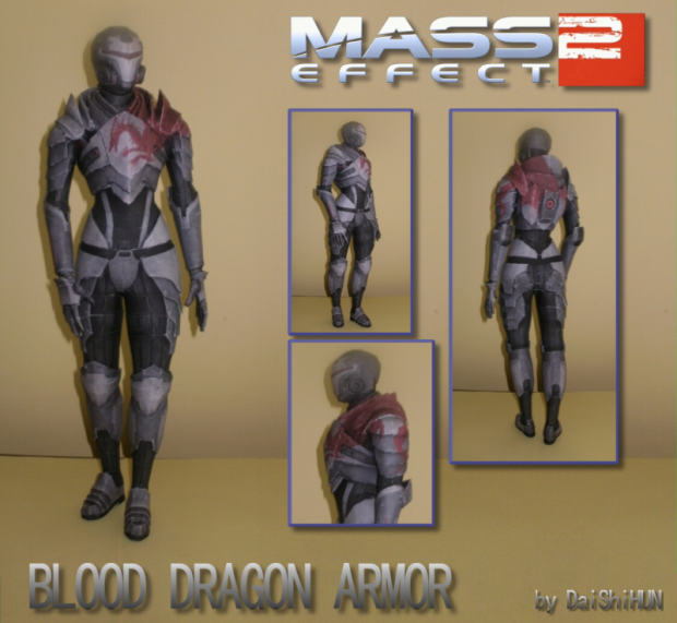 Blood Dragon Armor Papercraft