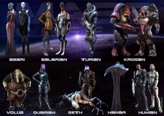 List of Mass effect Races