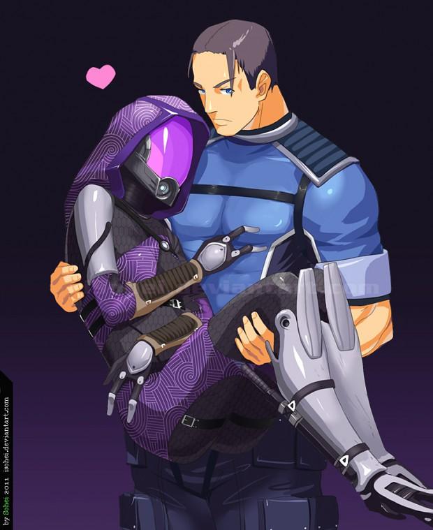 Tali'Zorah and Shepard