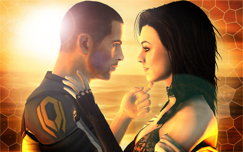Shepard and Miranda *flirting*
