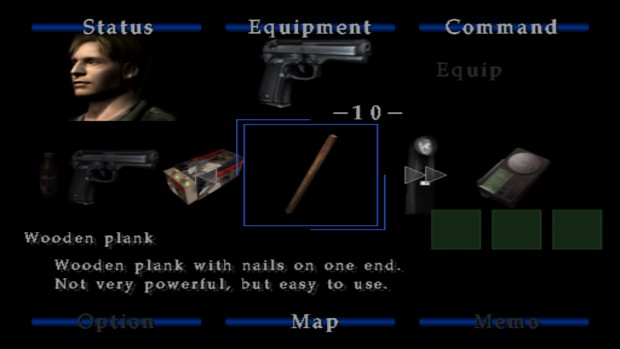 Silent Hill 2 Trial Version_Inventory