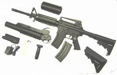 M16 or M4 w/ Grenade launcher Shotgun