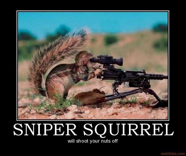 Will shoot your nuts off