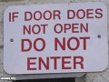 If doors do not open...