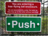 You're entering a free-flying bat enclosure.
