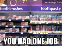 Only one job...