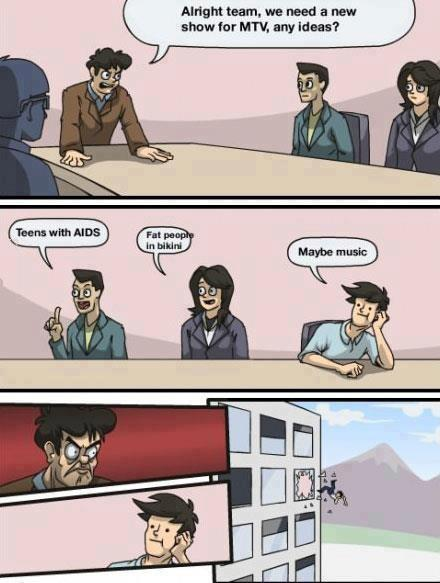 Meanwhile at MTV offices..