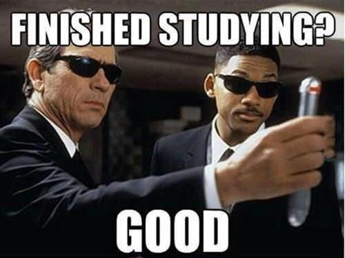 Finished Studying?