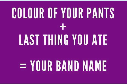 What's your band name?