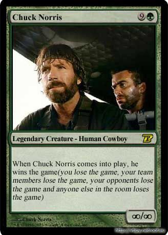Chuck Norris Trading Card