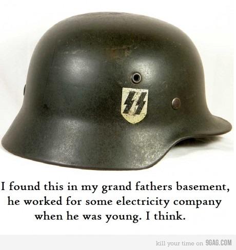 Grandpa's old helmet