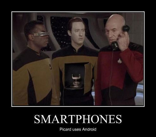 Picard Uses An Android