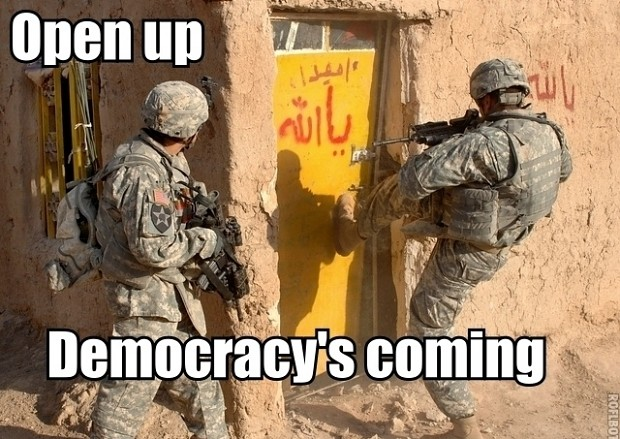 Open up, Democracy is coming!