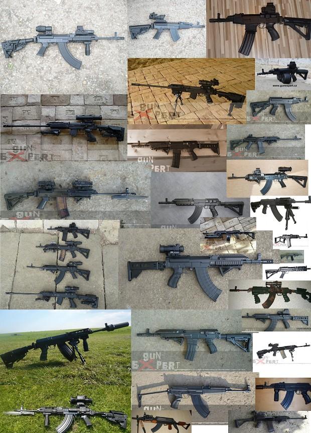 Vz58 modernized (many variants by gunexpert.cz)