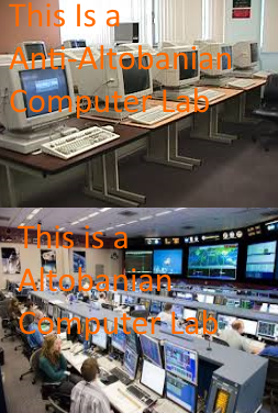 Altobanian Meme showing how technologically advanced we are.