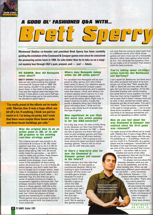Interview with Brett Sperry