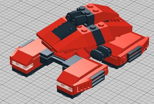 Mini Lego Stealth Tank