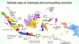 A friendly guide map of Indonesia