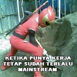 Power Ranger jadi kuli