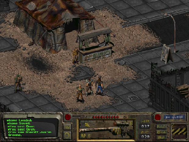 Ingame screenshot of Fallout 1