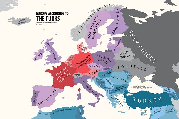 Europe according to Turks