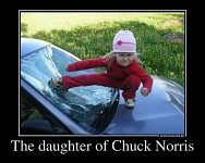 The daughter of Chuck Norris